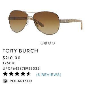 Tory Burch polarized aviators. Retail for $210.